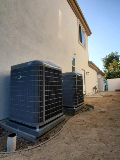 Irvine, CA - Replaced, and relocated 2 condensers, 2 coils, and a gas furnace in the city of Irvine, CA