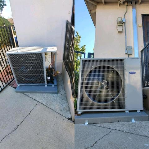 Alhambra, CA - Replaced a condenser, coil, and furnace in the city of Alhambra,CA.