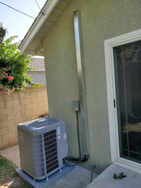 Long Beach, CA - Replaced, and relocated a condenser, coil, and furnace in the city of Long Beach, CA