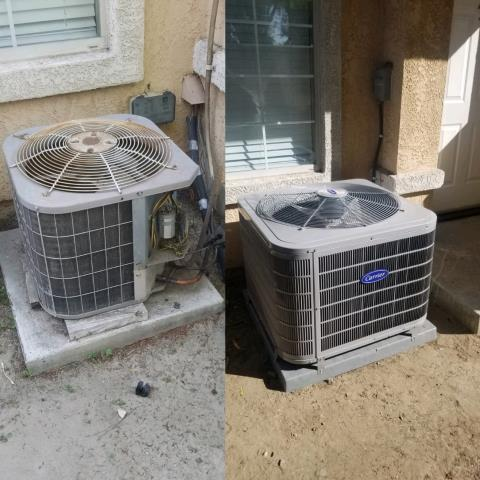 Pico Rivera, CA - Replaced a condenser,coil, and furnace in the city of Pico Rivera,CA.