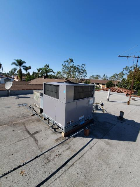 Los Angeles, CA - Replaced a package unit along with 6 ducts in the city of Los Angeles, CA.
