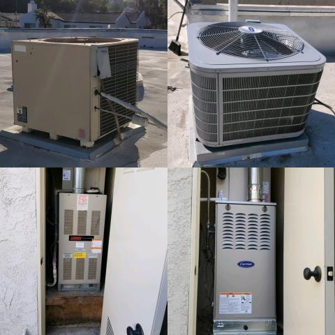 Replaced a condenser, coil, and furnace in the city of Redlands, CA.