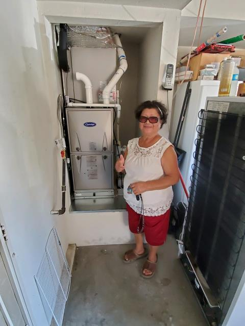 Downey, CA - Replaced a condenser, coil, and furnace in the satisfied Coye Home, located in the city of Downey,CA.