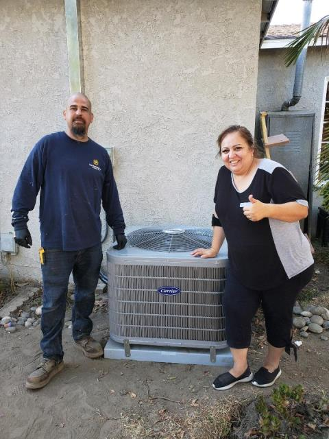 Downey, CA - Replaced a condenser, coil, and furnace in the city of Downey, CA.