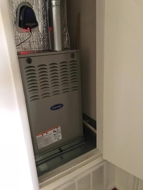Rancho Palos Verdes, CA - Replaced a furnace in the city of Rancho Palos Verdes, CA.