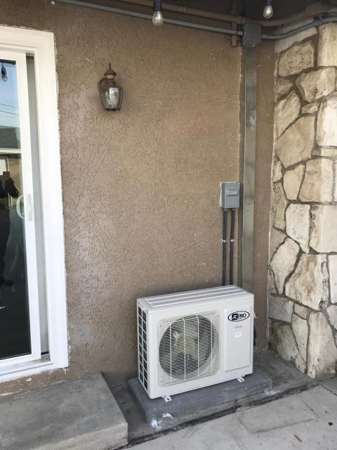 West Covina, CA - Installed a new mini split system in the city of West Covina, CA.