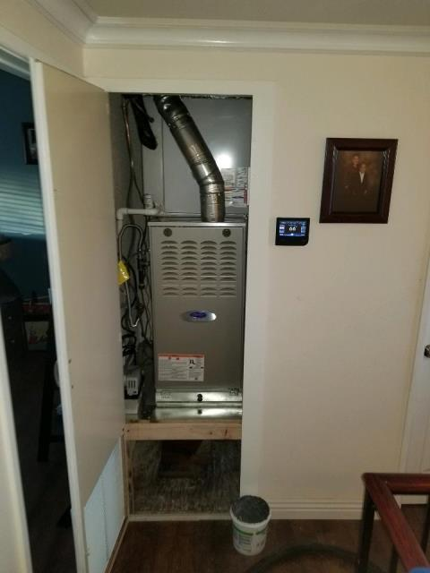 Carson, CA - Replaced a condenser, coil, and furnace in the city of Carson, CA.