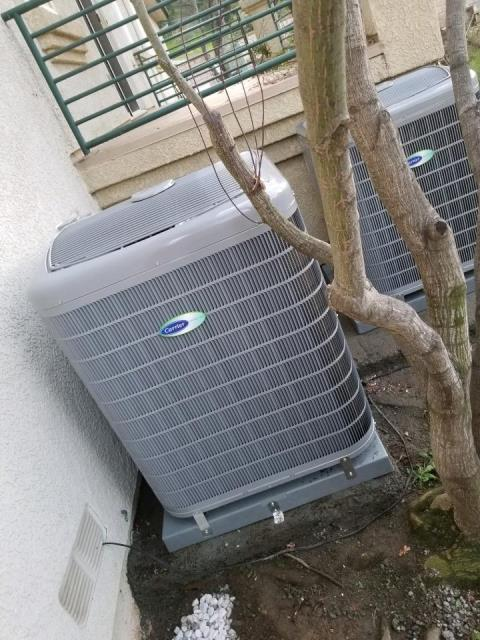 Glendora, CA - Replaced 2 condensers, and 2 coils, and a furnace replacement in the city of Glendora, CA.