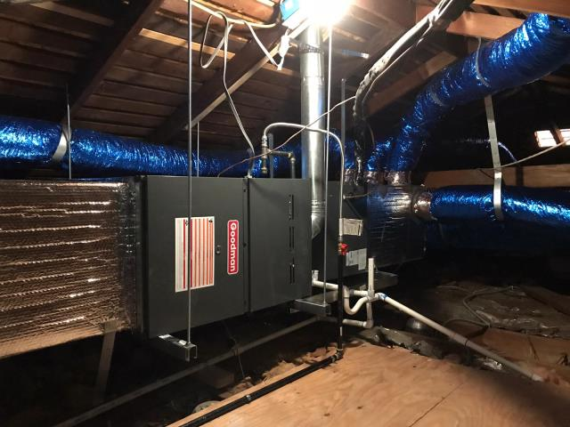 San Marino, CA - Installed a new condenser, coil, and furnace, along with the ducts in the city of San Marino.