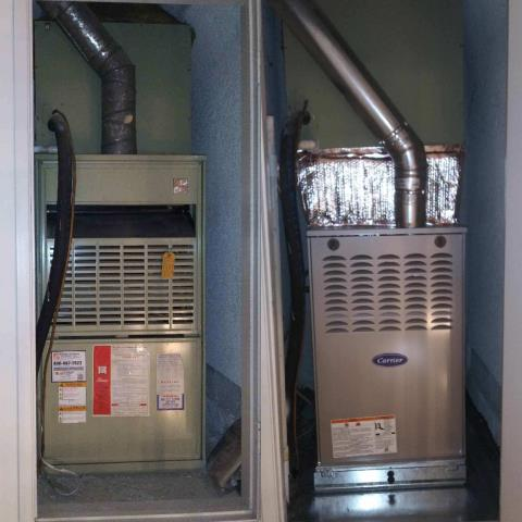 Monterey Park, CA - Replaced a gas furnace in the city of Monterey Park, CA.