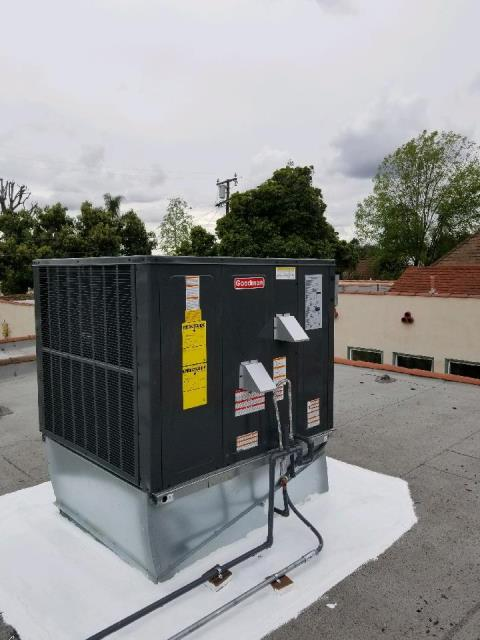 San Gabriel, CA - Replaced a rooftop package unit, along with the duct work in the city of San Gabriel, CA.