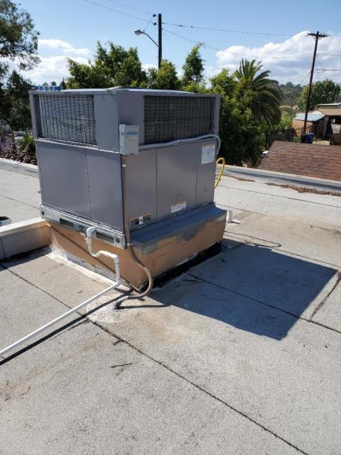 Los Angeles, CA - Replaced a package unit replacement in the city of Los Angeles, CA.