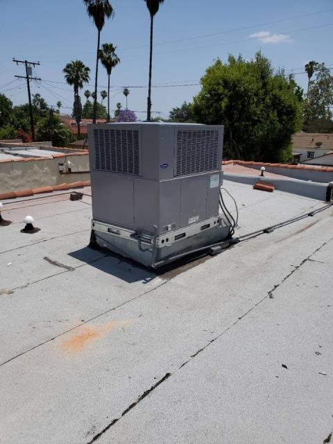 San Gabriel, CA - Replaced a rooftop package unit replacement in the city of San Gabriel, CA.