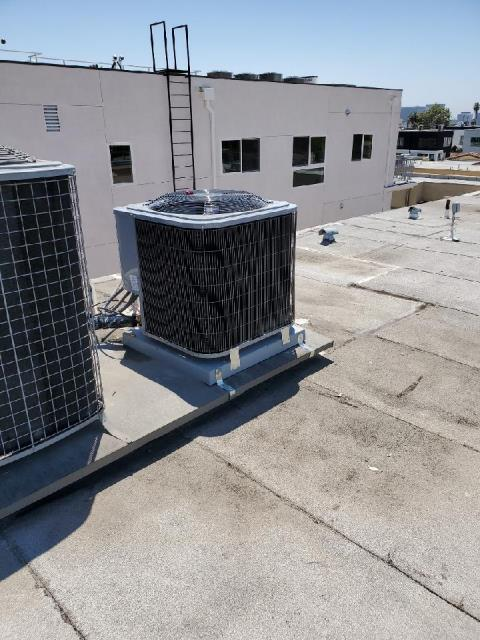 Los Angeles, CA - Replaced a rooftop package unit in the city of Los Angeles, CA.