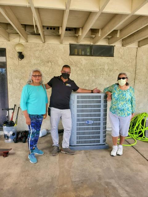 Covina, CA - Installation of a condenser, coil, furnace and ducts to a wonderful family in the city of Covina