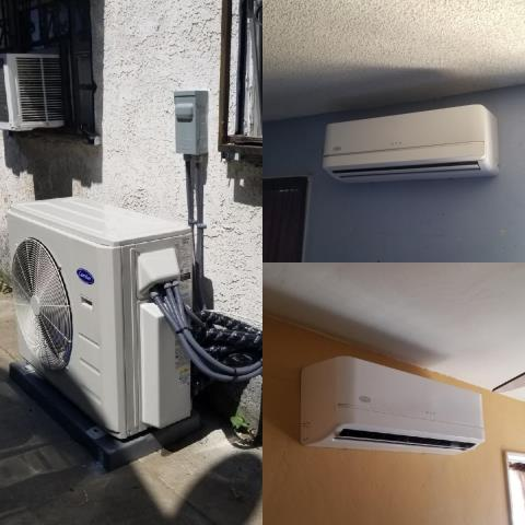 Downey, CA - Installed a mini split system in the city of Downey, CA.