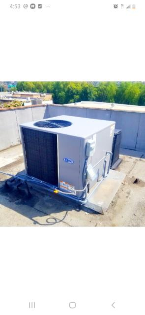 Glendale, CA - Replaced a package unit in the city of Glendale,CA.
