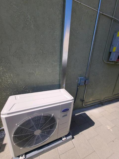 Installed a mini split system in the city of Norwalk, CA.