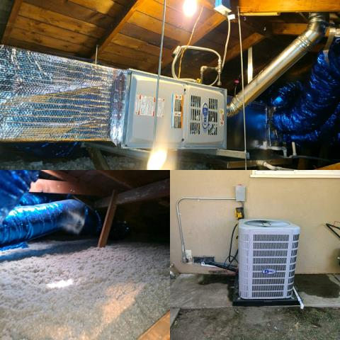 Buena Park, CA - Furnace, condenser, coil and duct replacement for a wonderful family in the city of Buena Park.