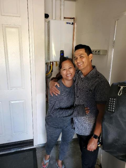 Oxnard, CA - Removed existing water heater, and installed a new tankless water heater in the very pleased home of the Lucio and Rocha family located in the city of Oxnard, CA.