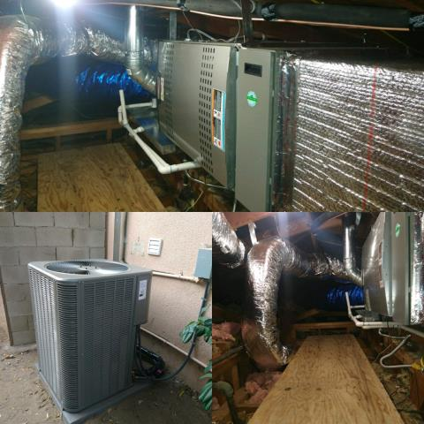 Arcadia, CA - Installation of a condenser, furnace, coil and duct replacement for a family located in the city of Arcadia.