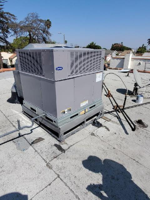 Los Angeles, CA - Replaced a package unit in the city of Los Angeles,CA.