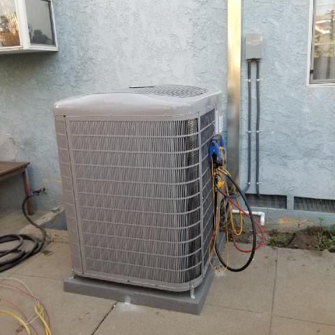 Replaced a condenser, coil,and furnace a long with the duct work and a new 200 amp panel in the city of San Fernando,CA.