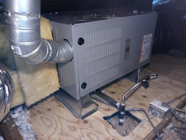 Los Angeles, CA - Replaced a gas furnace in the city of Los Angeles,CA.