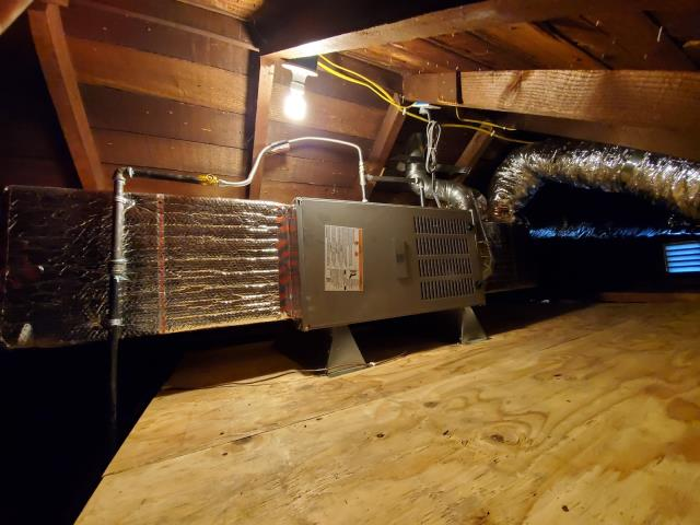 Inglewood, CA - Replaced a gas furnace along with the duct work in the city of Inglewood,CA.