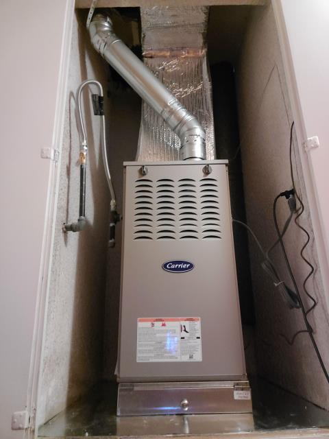Carson, CA - Replaced a gas furnace in the city of Carson,CA.