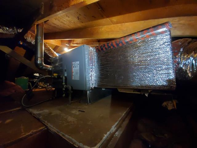 Costa Mesa, CA - Replaced a gas furnace along with the duct work in the city of Costa Mesa,CA.