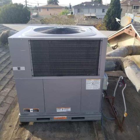 Replaced  a package unit along with the duct work in the city of Gardena,CA.