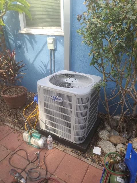 La Puente, CA - Installed a condenser, coil, and furnace along with the duct work in the city of La Puente,CA.