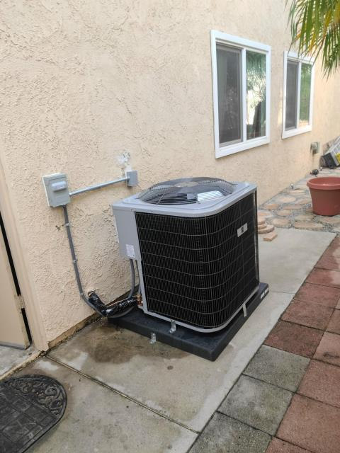 Replaced a condenser, coil, and furnace in the city of Brea, CA.