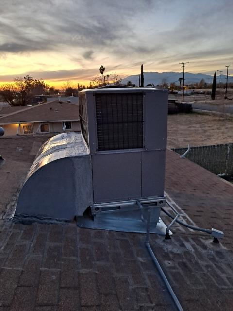 Replaced a rooftop package unit in the city of Highland, CA.