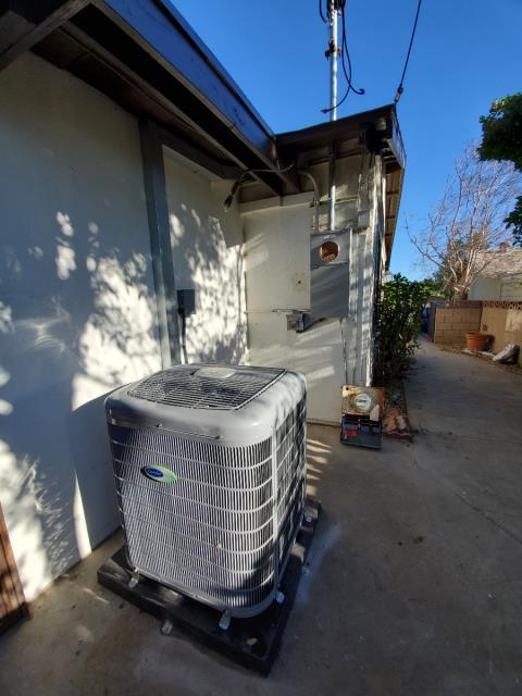 Replaced a condenser, coil,and furnace along with the duct work and a 200 AMP panel upgrade in the city of Sylmar, CA.