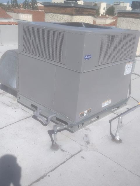 Carson, CA - Removed and replaced a package unit in the city of Carson, CA.