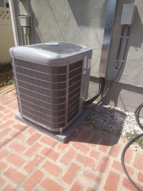 Whittier, CA - Replaced a condenser, coil, and furnace along with the duct work in the city of Whittier, CA.