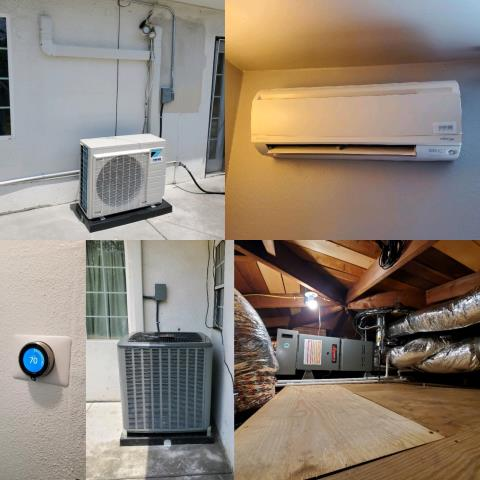 Covina, CA - Installed a condenser, coil, and furnace along with the duct work. Also installed a mini split system with 2 air handlers in the city of Covina, CA.