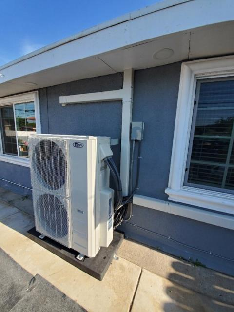 La Puente, CA - Installed a mini split system with 4 air handlers in the city of La Puente, CA.