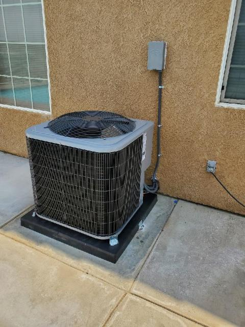Replaced a condenser,and coil in the city of California City, CA.