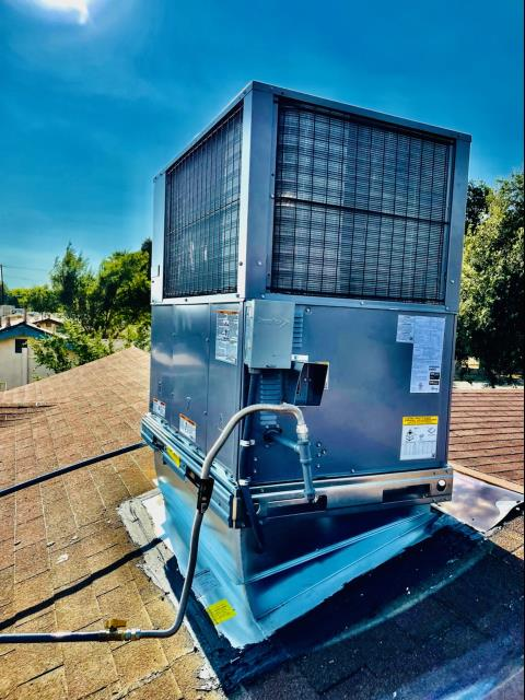 San Bernardino, CA - Replaced a rooftop package unit along with the duct work in the city of San Bernardino, CA.
