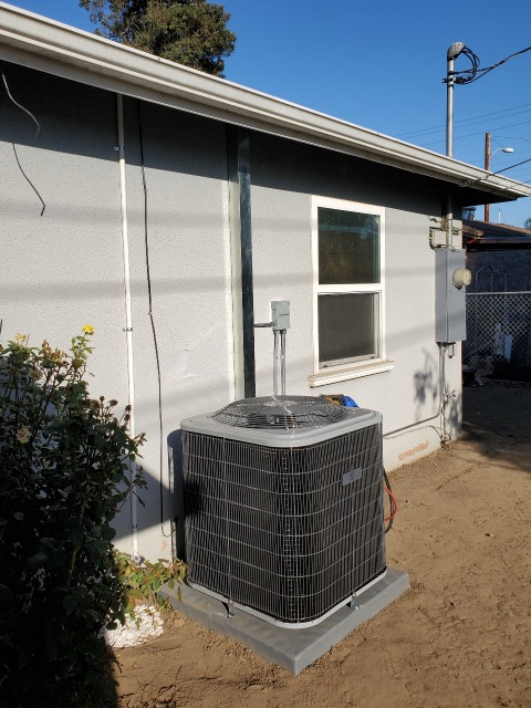 Replaced a condenser, coil, and furnace along with the ducts in the city of La Puente, CA.