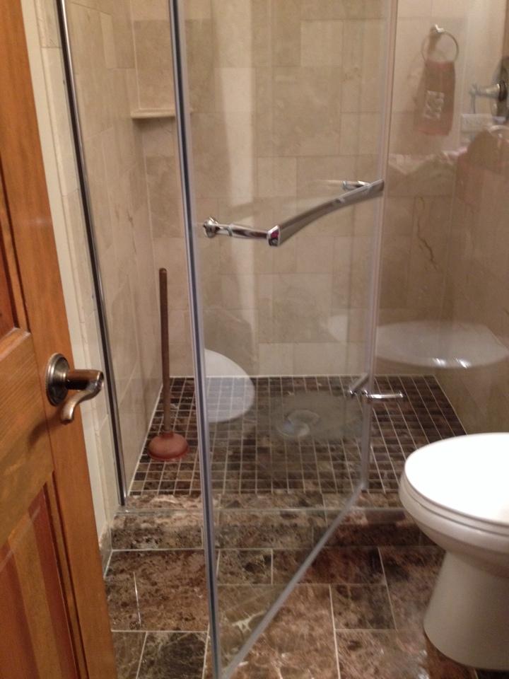 Naperville, IL - Rod shower drain