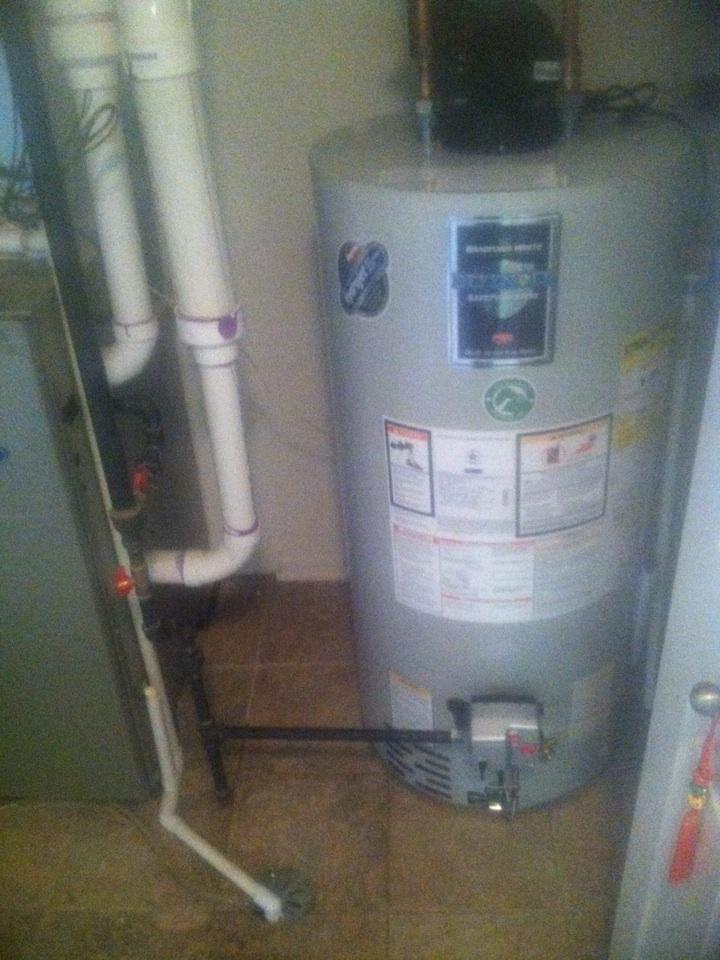 Aurora, IL - Installed Bradford White Power Vent water heater