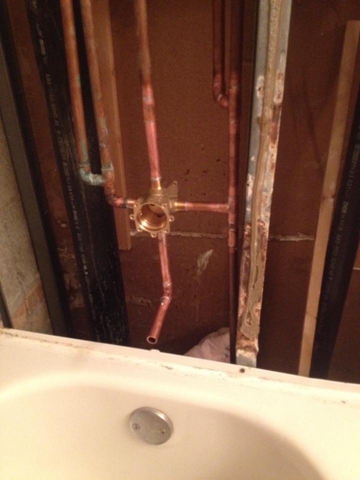 Lisle, IL - Install customer supplied shower valve