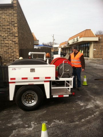 West Dundee, IL - Hydrojetted main sewer line at Lover's Lane