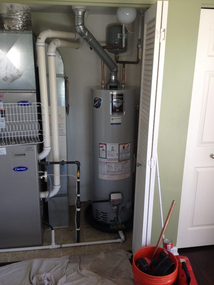 Plainfield, IL - Install new water heater