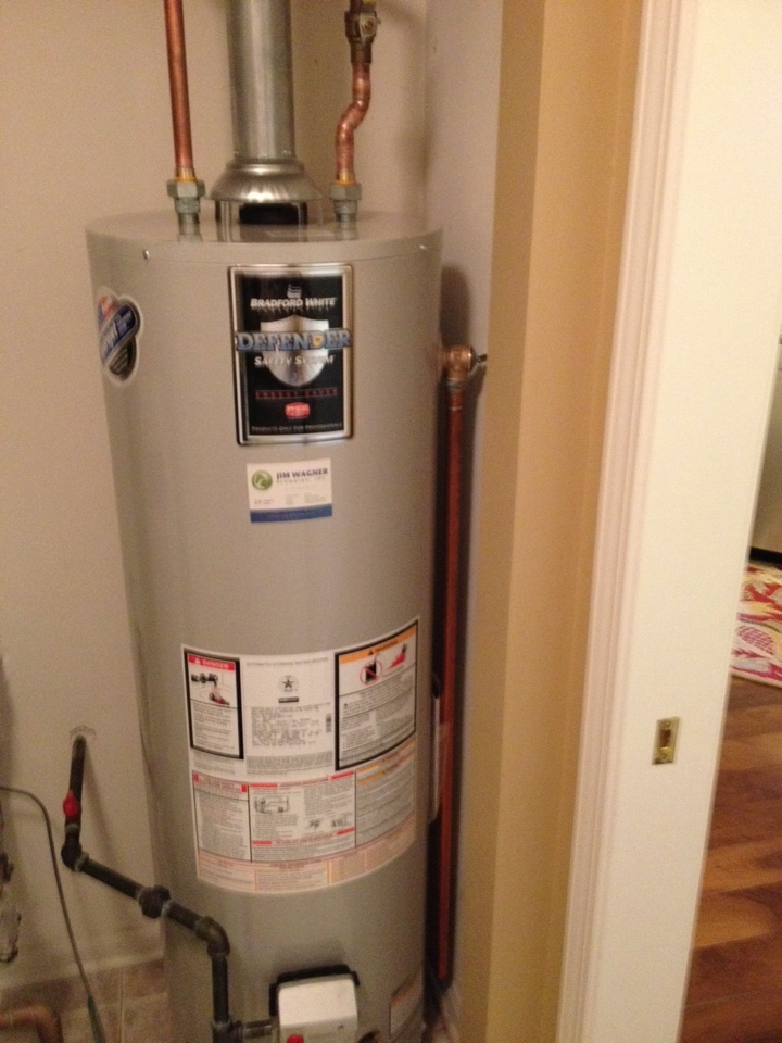 Joliet, IL - Install a new 40 gallon water heater with a new expansion tank and water heater pan