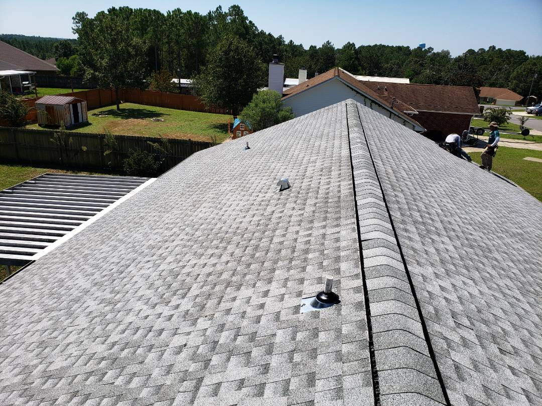 Crestview, FL -  Beautiful day for a Shingle roof replacement in Crestview, Fl.